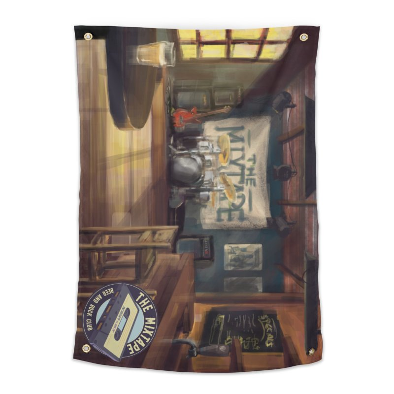 Mixtape Bar Poster Home Tapestry by JQBX Store - Listen Together