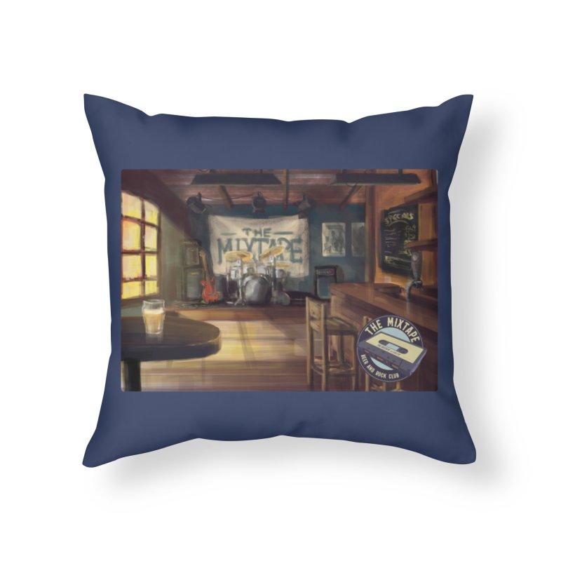 Mixtape Bar Poster Home Throw Pillow by JQBX Store - Listen Together