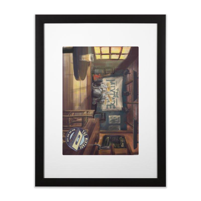 Mixtape Bar Poster Home Framed Fine Art Print by JQBX Store - Listen Together