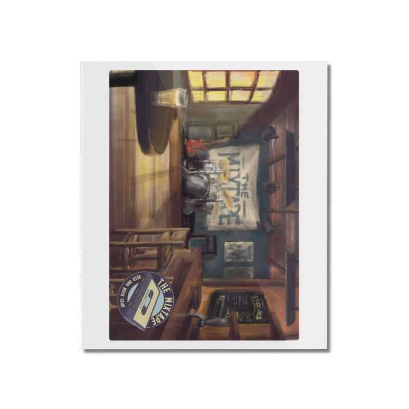 Mixtape Bar Poster Home Mounted Acrylic Print by JQBX Store - Listen Together