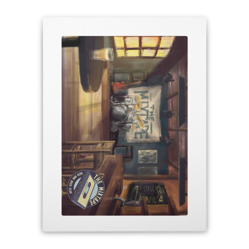 Mixtape Bar Poster Home Stretched Canvas by JQBX Store - Listen Together