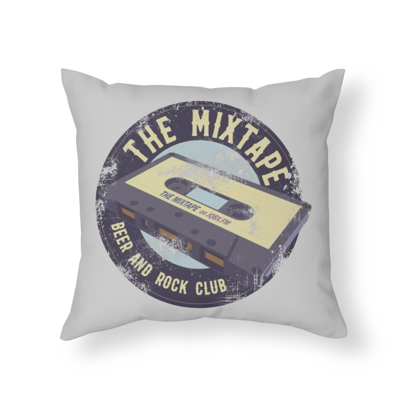 The Mixtape on JQBX Home Throw Pillow by JQBX Store - Listen Together
