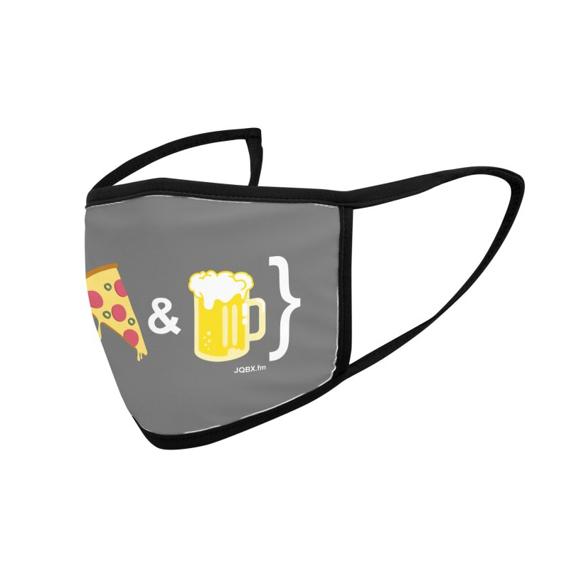 Pizza & Beer JQBX Accessories Face Mask by JQBX Store - Listen Together