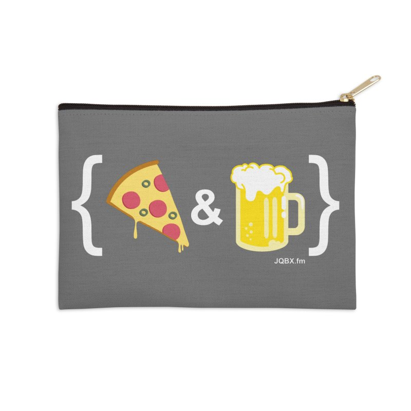 Pizza & Beer JQBX Accessories Zip Pouch by JQBX Store - Listen Together