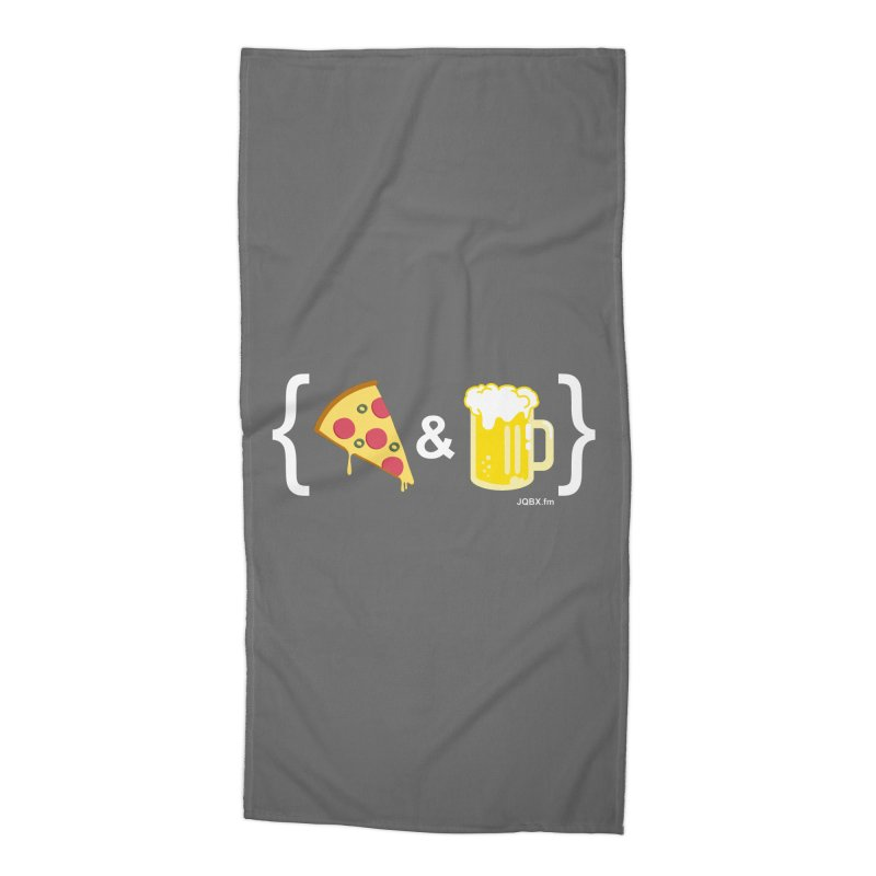 Pizza & Beer JQBX Accessories Beach Towel by JQBX Store - Listen Together
