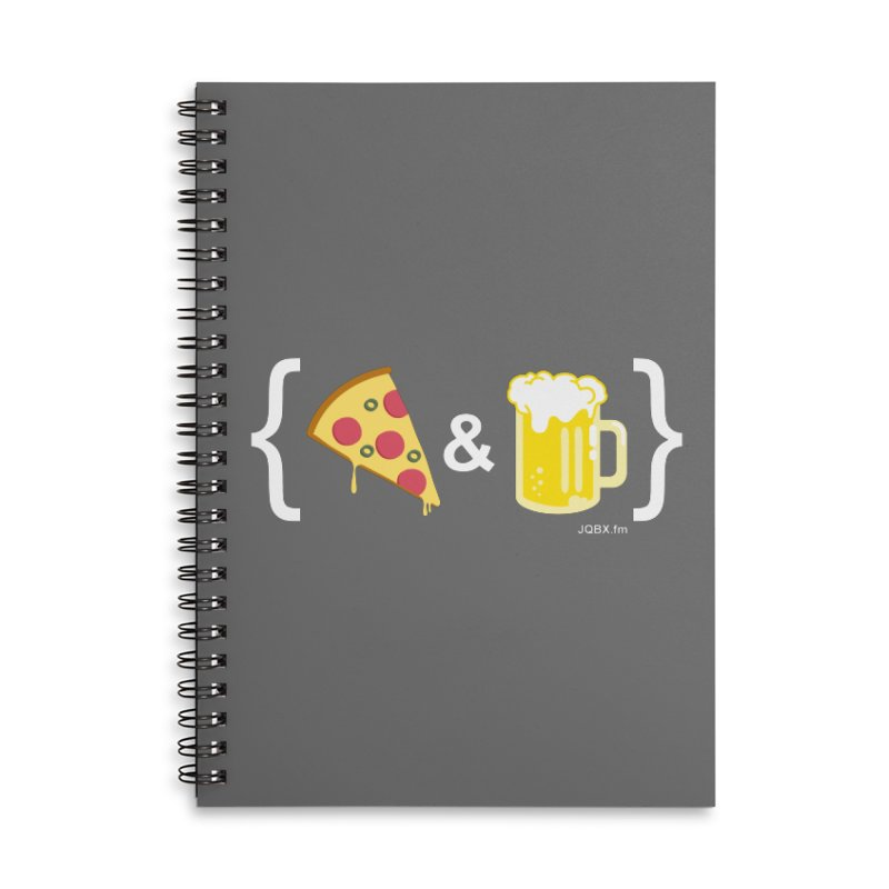 Pizza & Beer JQBX Accessories Notebook by JQBX Store - Listen Together