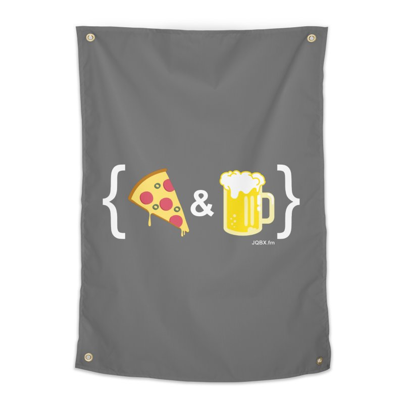 Pizza & Beer JQBX Home Tapestry by JQBX Store - Listen Together