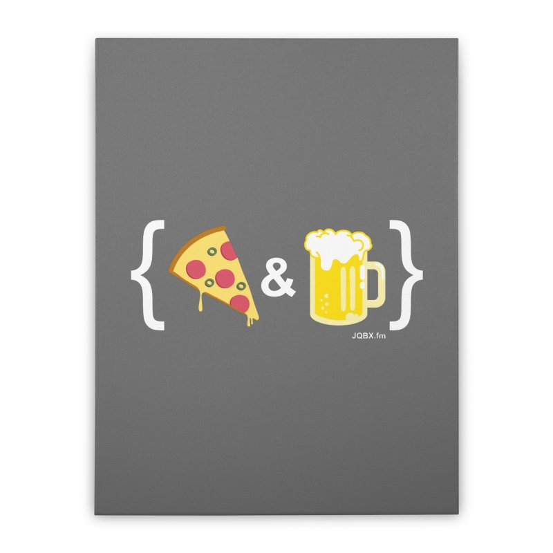 Pizza & Beer JQBX Home Stretched Canvas by JQBX Store - Listen Together