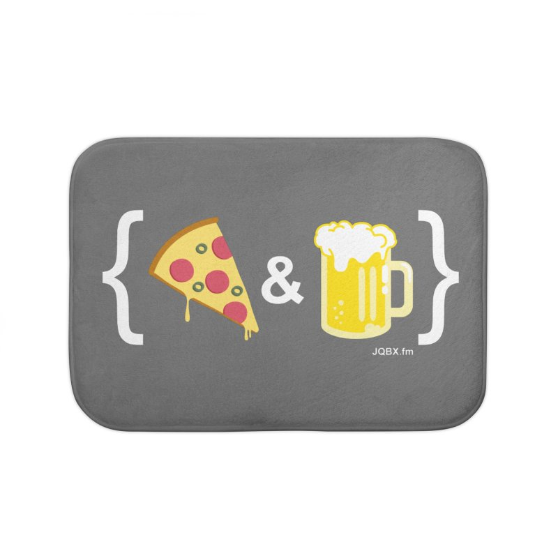 Pizza & Beer JQBX Home Bath Mat by JQBX Store - Listen Together