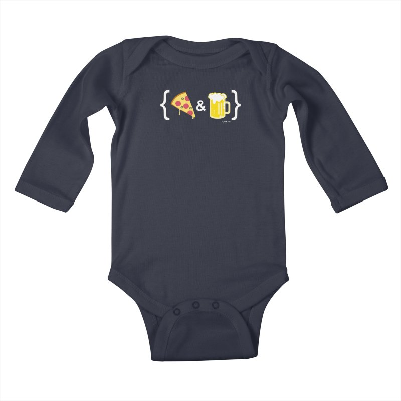 Pizza & Beer JQBX Kids Baby Longsleeve Bodysuit by JQBX Store - Listen Together