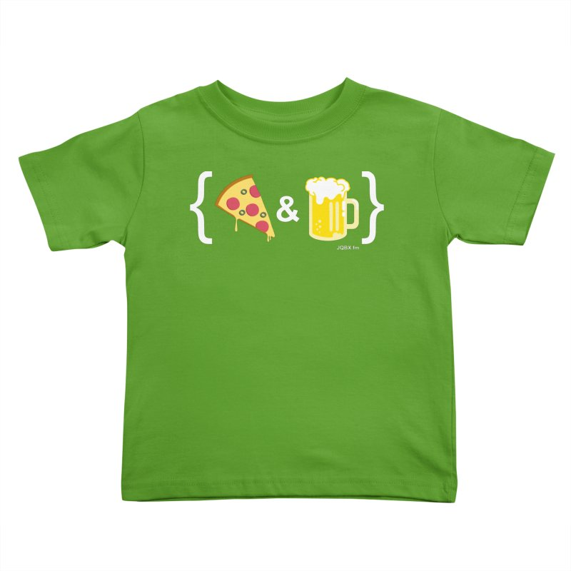 Pizza & Beer JQBX Kids Toddler T-Shirt by JQBX Store - Listen Together