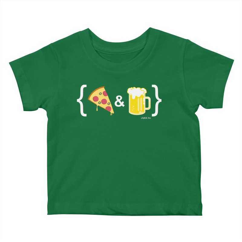 Pizza & Beer JQBX Kids Baby T-Shirt by JQBX Store - Listen Together