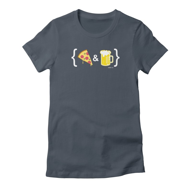 Pizza & Beer JQBX Women's T-Shirt by JQBX Store - Listen Together
