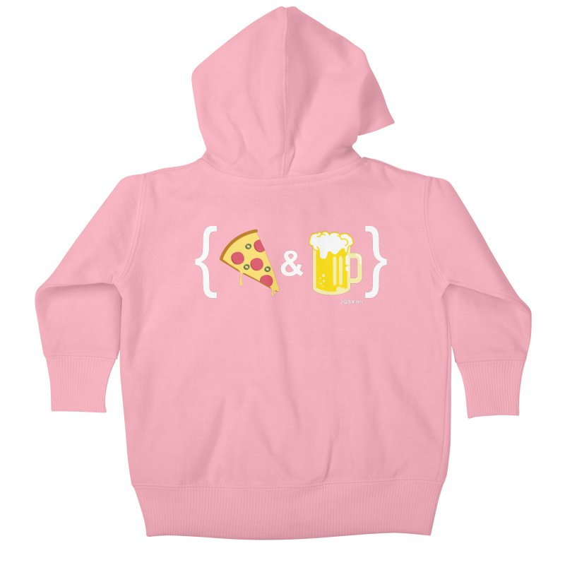 Pizza & Beer JQBX Kids Baby Zip-Up Hoody by JQBX Store - Listen Together