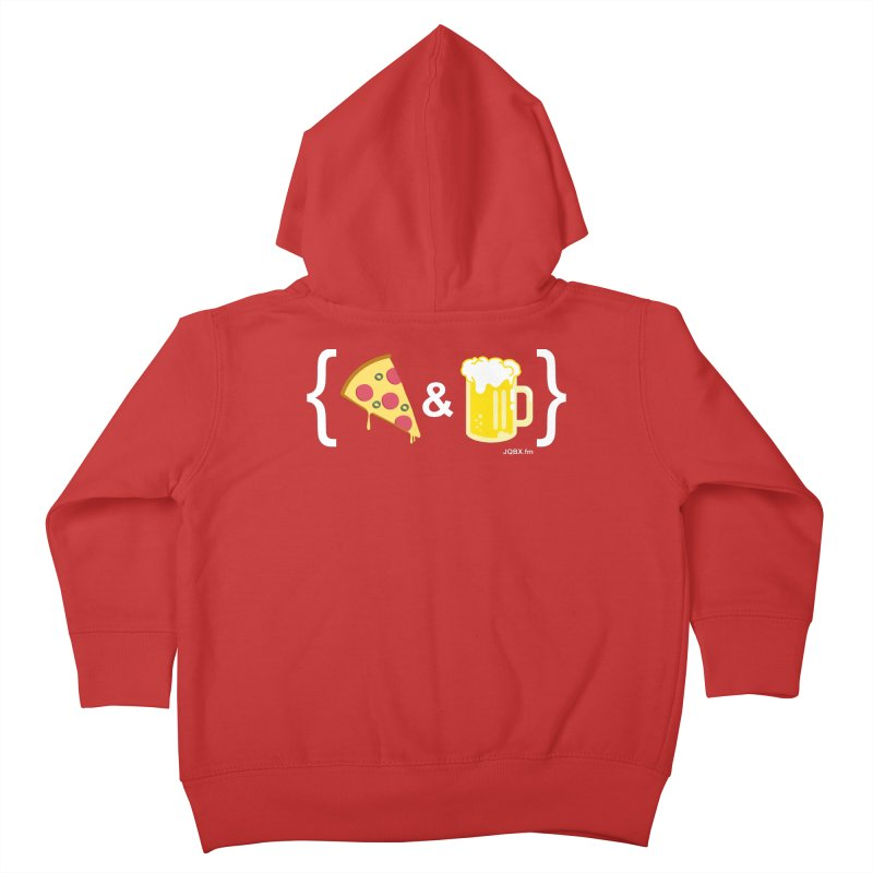 Pizza & Beer JQBX Kids Toddler Zip-Up Hoody by JQBX Store - Listen Together