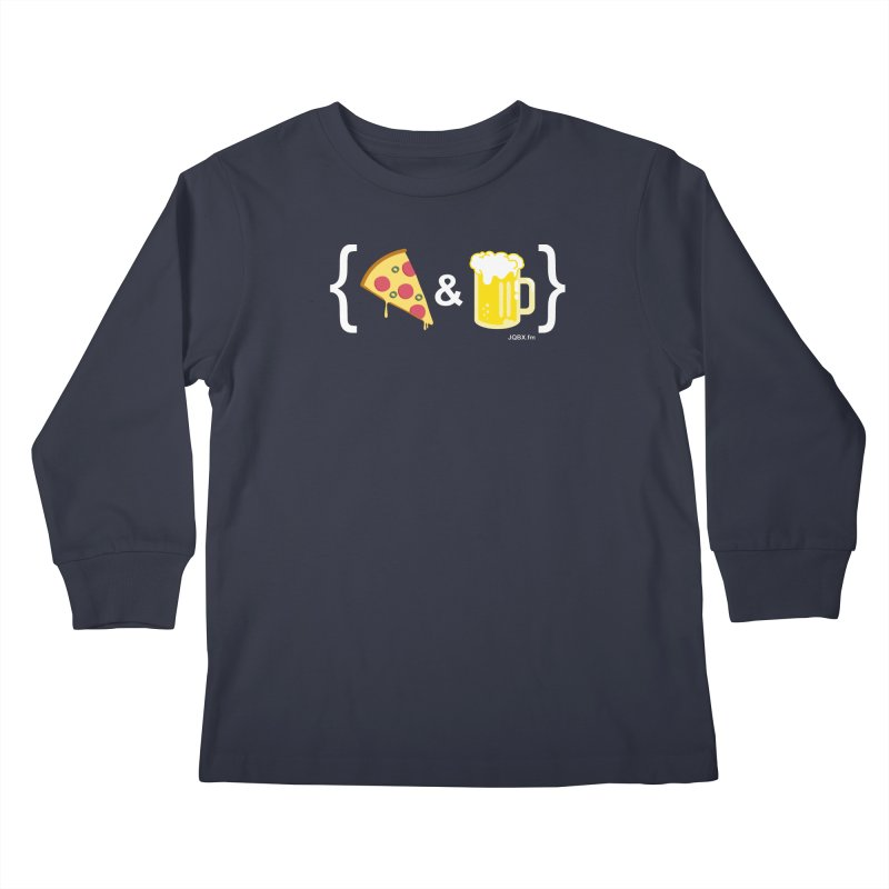 Pizza & Beer JQBX Kids Longsleeve T-Shirt by JQBX Store - Listen Together