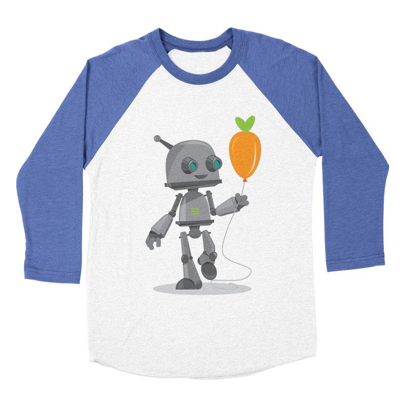 Vegan Bot Men's Baseball Triblend T-Shirt by jr0bert's Shop