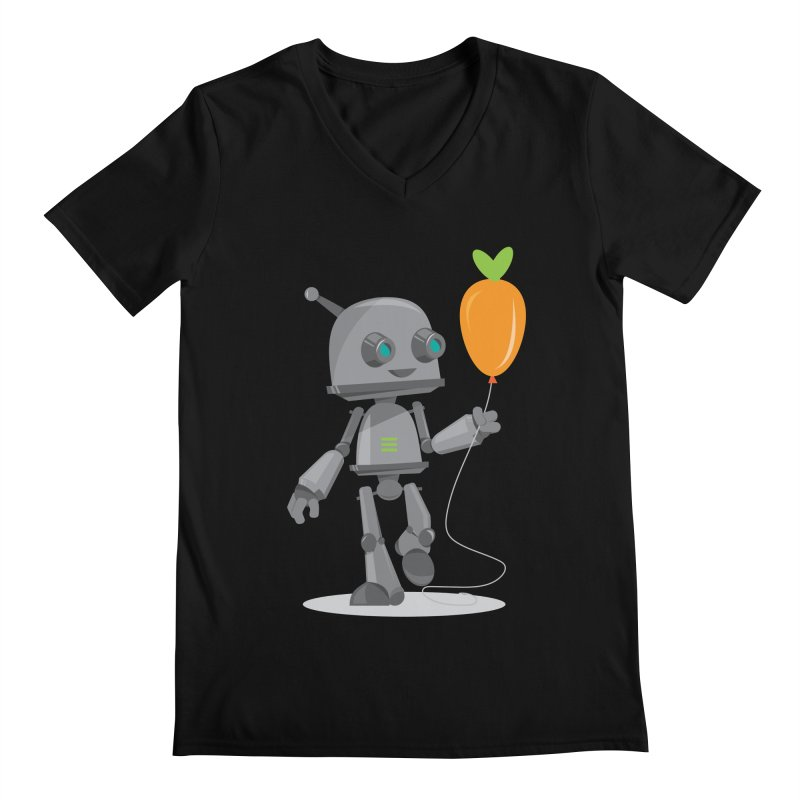 Vegan Bot Men's V-Neck by jr0bert's Shop
