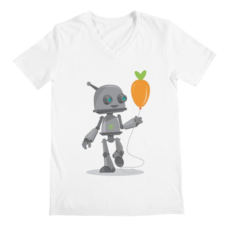 Vegan Bot Men's V-Neck by jr0bert's Shop