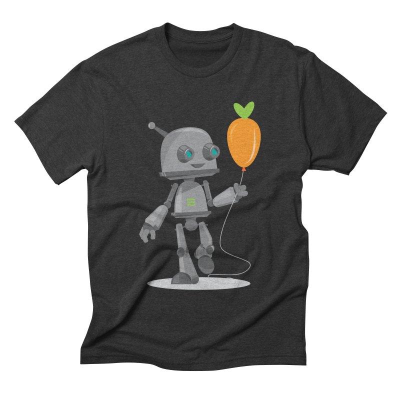 Vegan Bot Men's Triblend T-shirt by jr0bert's Shop