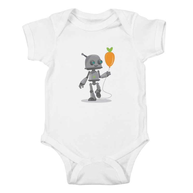 Vegan Bot Kids Baby Bodysuit by jr0bert's Shop