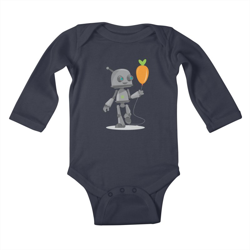 Vegan Bot Kids Baby Longsleeve Bodysuit by jr0bert's Shop