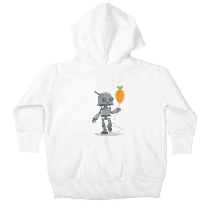 Vegan Bot Kids Baby Zip-Up Hoody by jr0bert's Shop