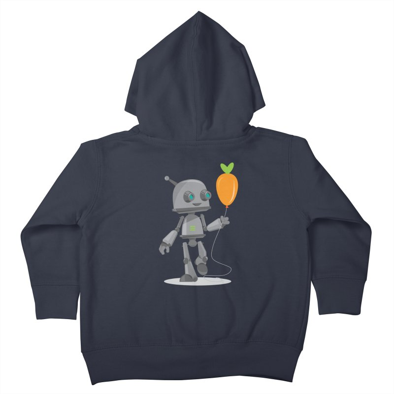 Vegan Bot Kids Toddler Zip-Up Hoody by jr0bert's Shop