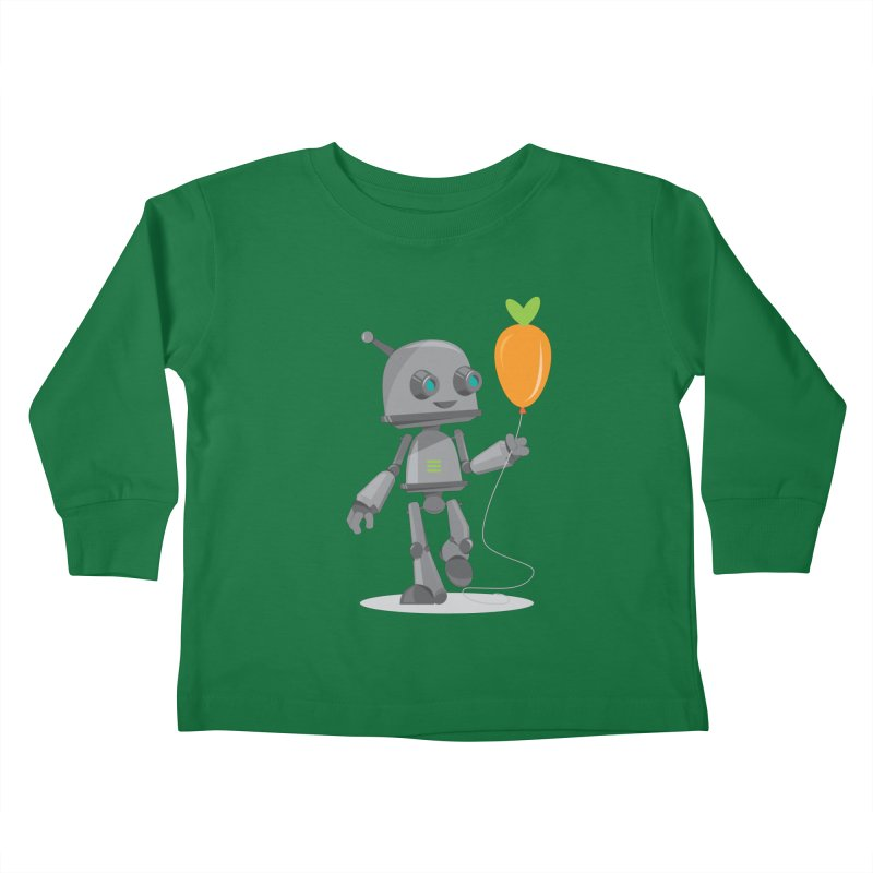 Vegan Bot Kids Toddler Longsleeve T-Shirt by jr0bert's Shop