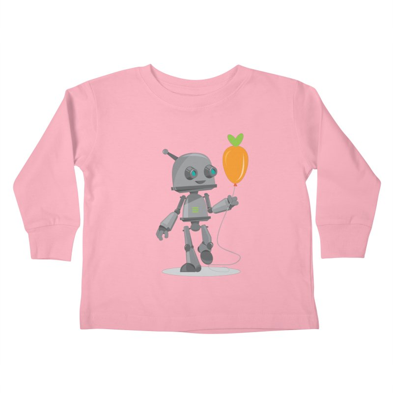 Vegan Bot Kids Toddler Longsleeve T-Shirt by jr0bert's Shop