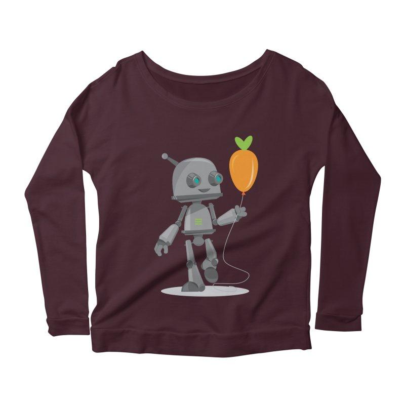 Vegan Bot Women's Longsleeve Scoopneck  by jr0bert's Shop