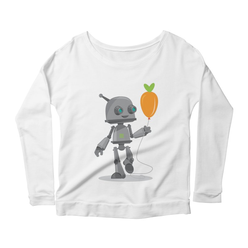 Vegan Bot Women's Longsleeve Scoopneck  by jr0bert's Shop