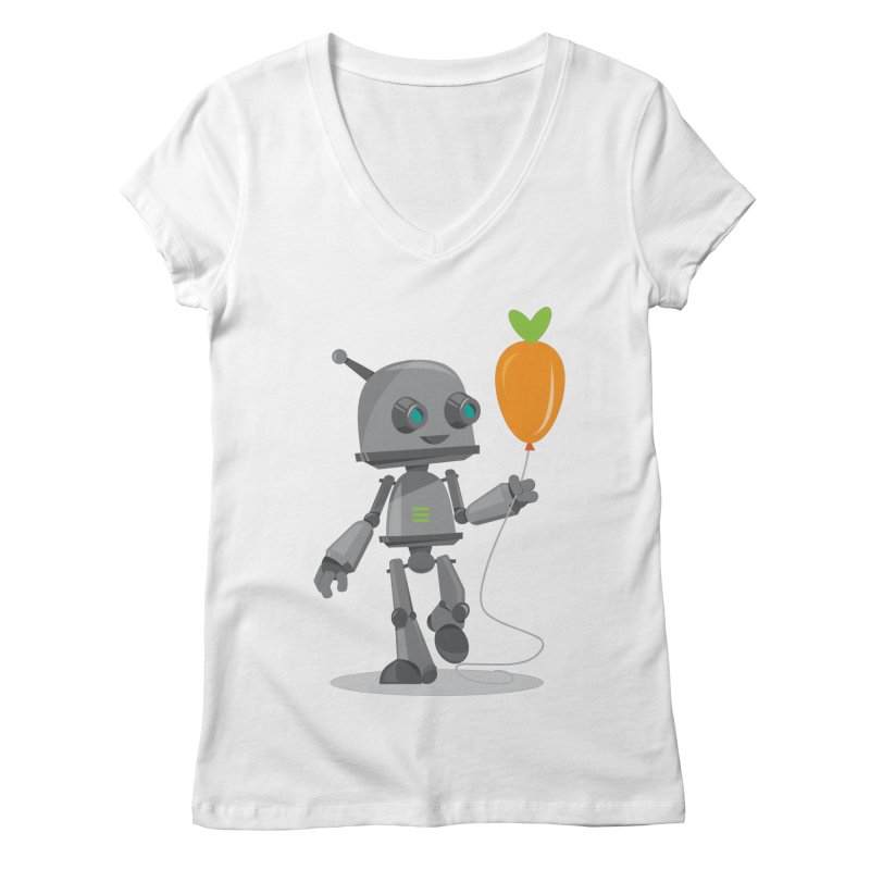 Vegan Bot Women's V-Neck by jr0bert's Shop