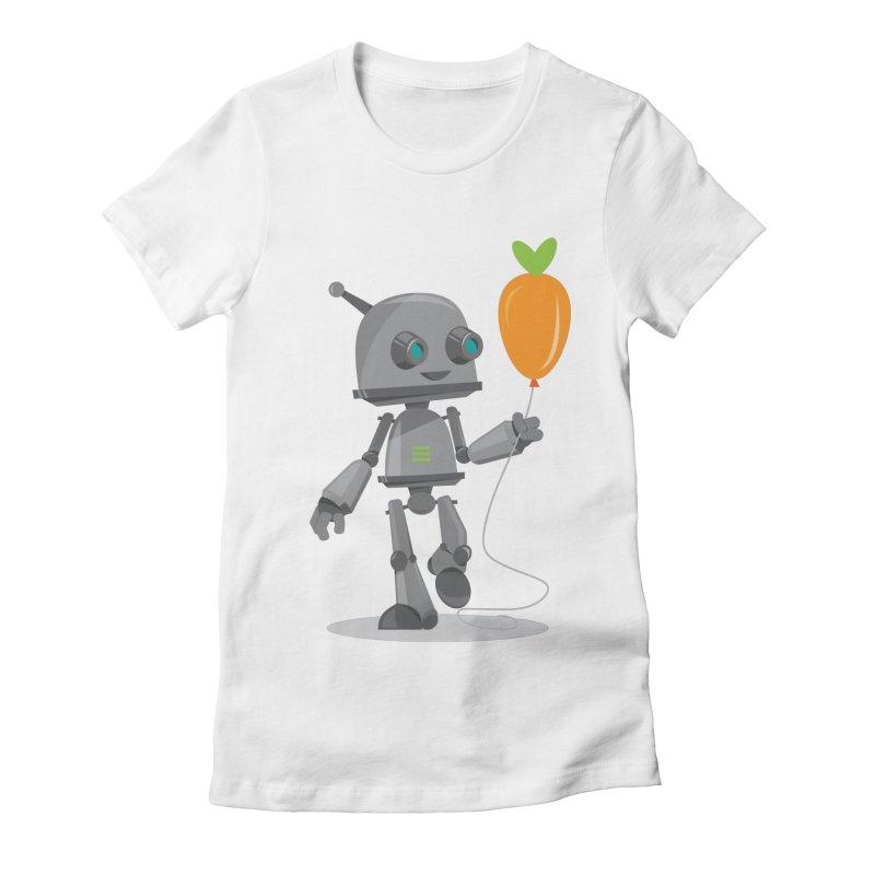 Vegan Bot Women's Fitted T-Shirt by jr0bert's Shop
