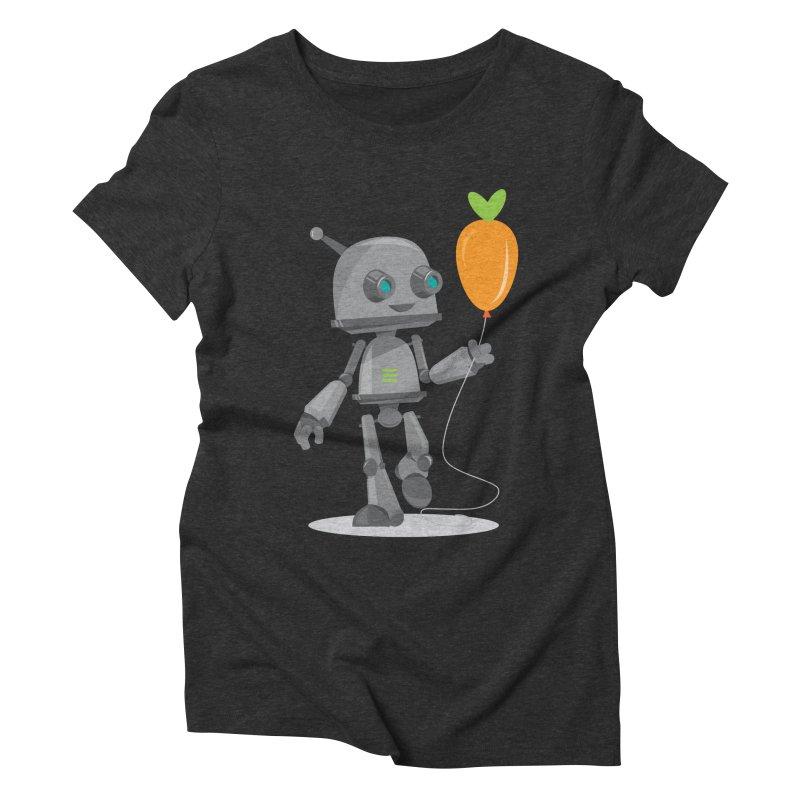 Vegan Bot Women's Triblend T-Shirt by jr0bert's Shop