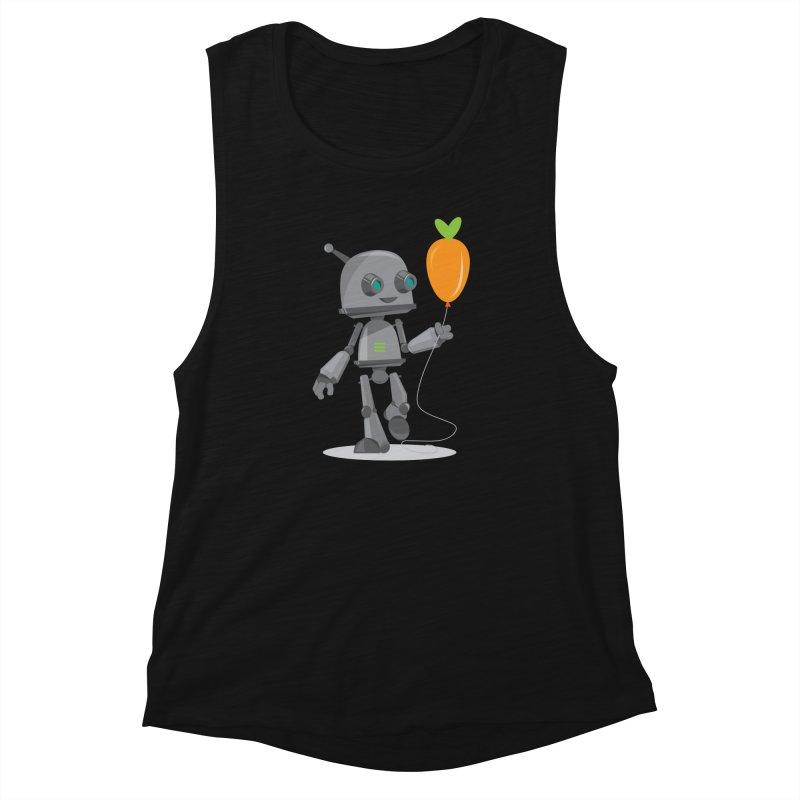 Vegan Bot Women's Muscle Tank by jr0bert's Shop