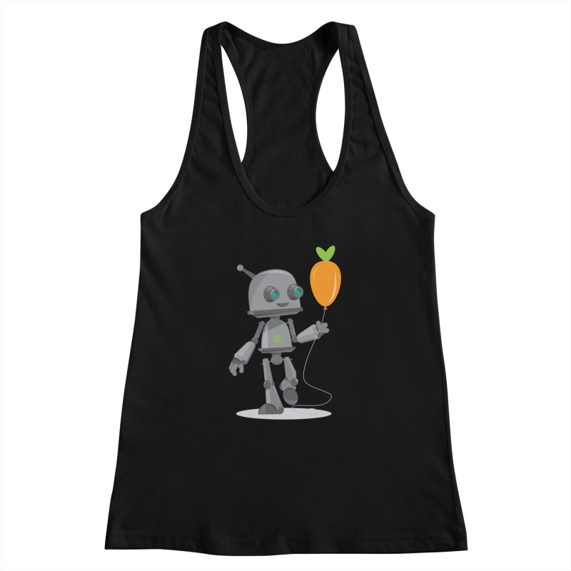Vegan Bot Women's Racerback Tank by jr0bert's Shop