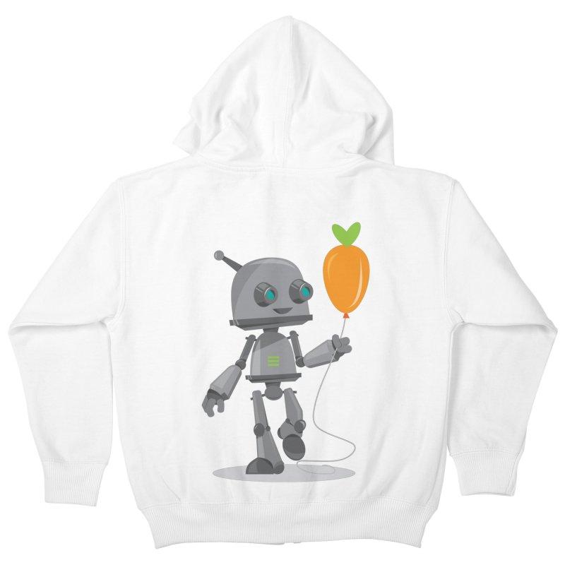 Vegan Bot Kids Zip-Up Hoody by jr0bert's Shop
