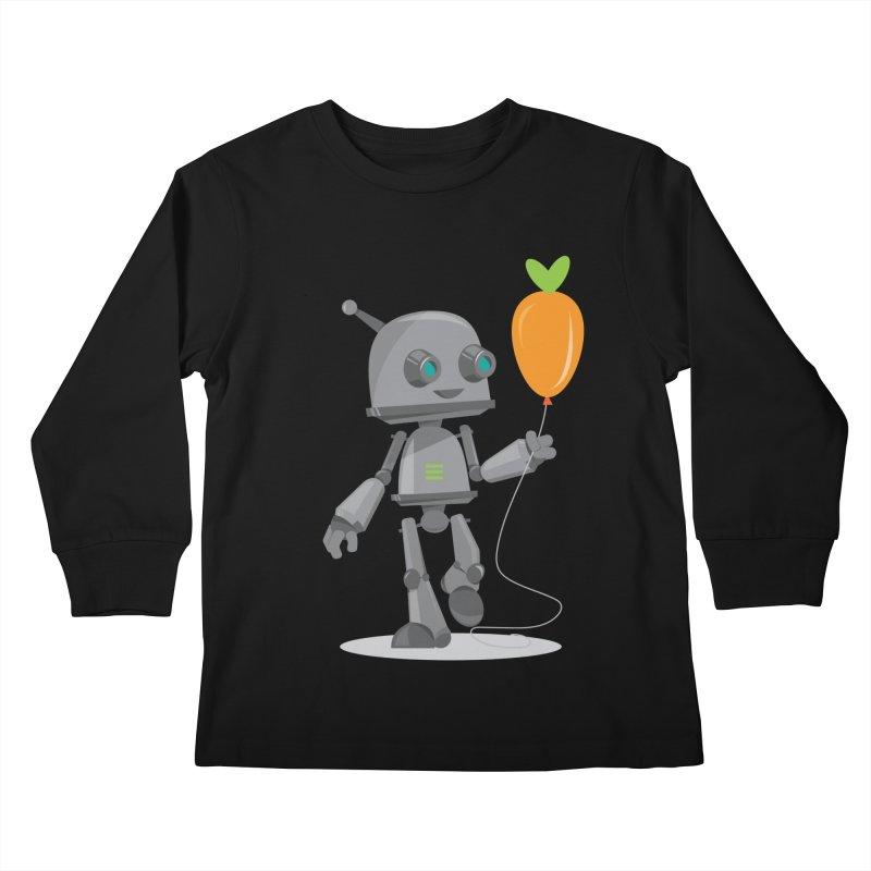 Vegan Bot Kids Longsleeve T-Shirt by jr0bert's Shop