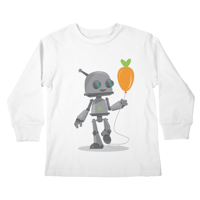 Vegan Bot Kids Longsleeve T-Shirt by jr0bert's Shop