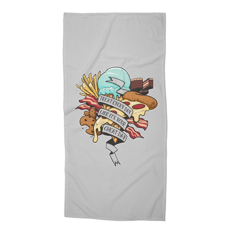 Cheat Day Accessories Beach Towel by jrieman's Artist Shop