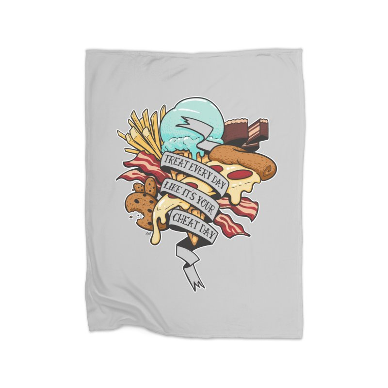 Cheat Day Home Fleece Blanket Blanket by jrieman's Artist Shop