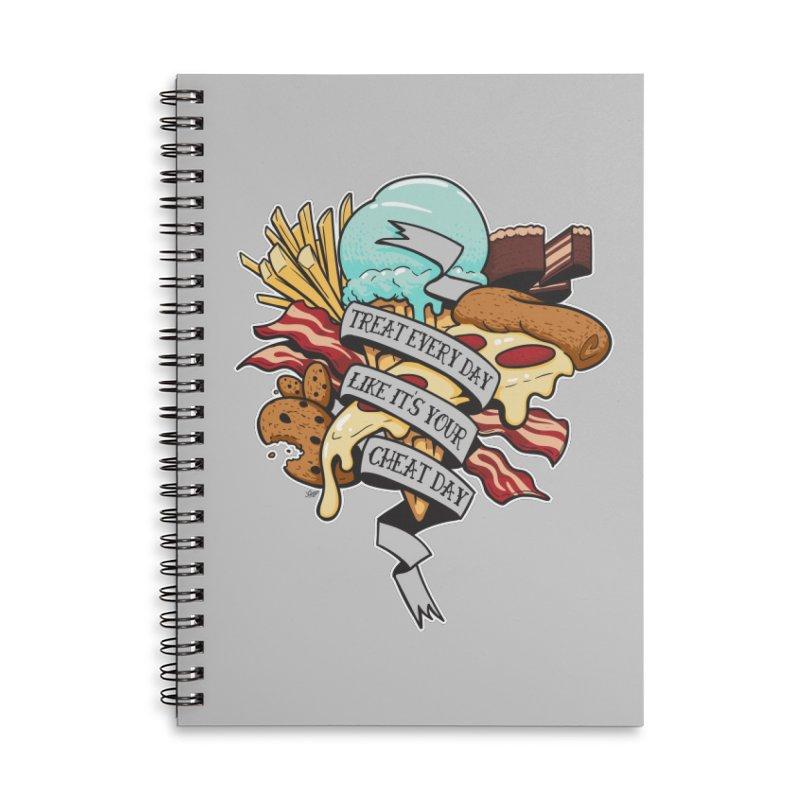 Cheat Day Accessories Lined Spiral Notebook by jrieman's Artist Shop