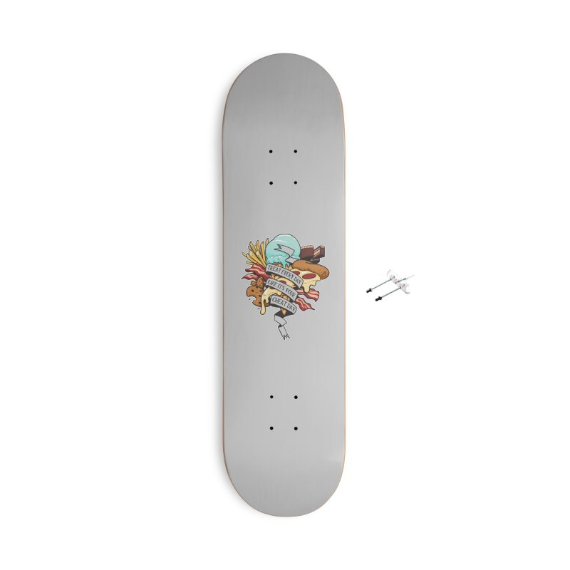 Cheat Day Accessories With Hanging Hardware Skateboard by jrieman's Artist Shop