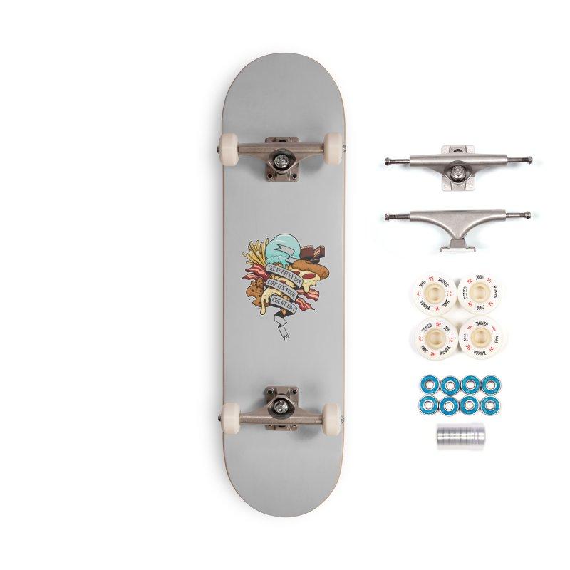 Cheat Day Accessories Complete - Premium Skateboard by jrieman's Artist Shop