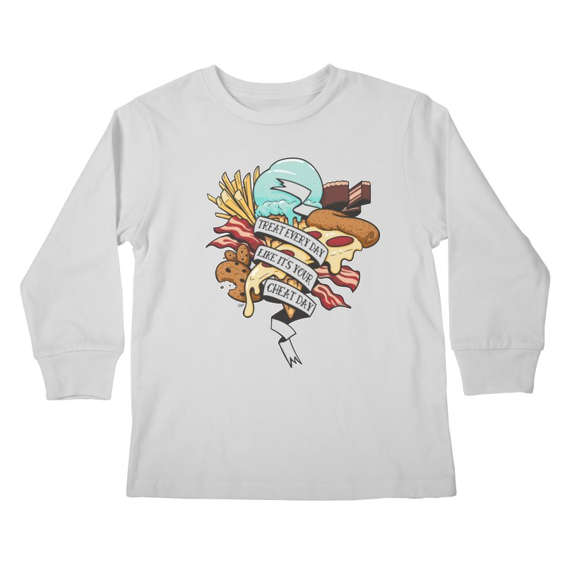 Cheat Day Kids Longsleeve T-Shirt by jrieman's Artist Shop