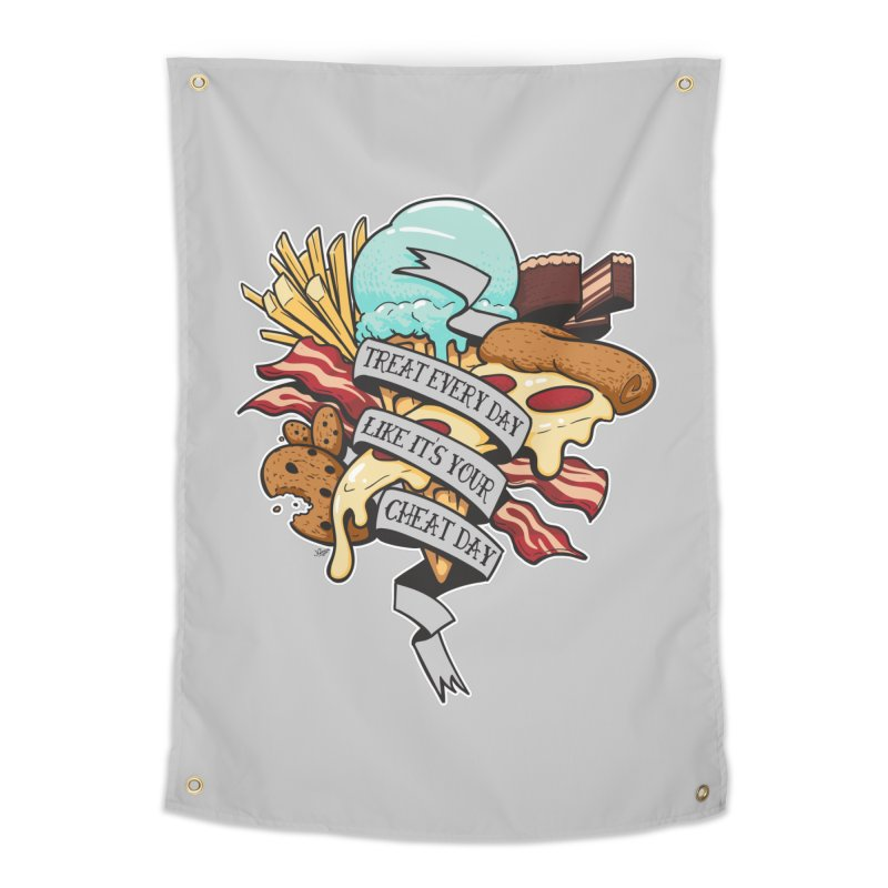 Cheat Day Home Tapestry by jrieman's Artist Shop