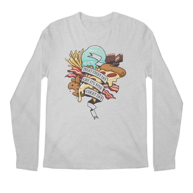 Cheat Day Men's Longsleeve T-Shirt by jrieman's Artist Shop