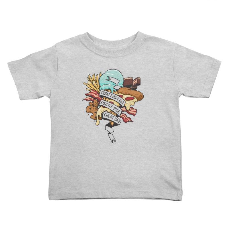 Cheat Day Kids Toddler T-Shirt by jrieman's Artist Shop