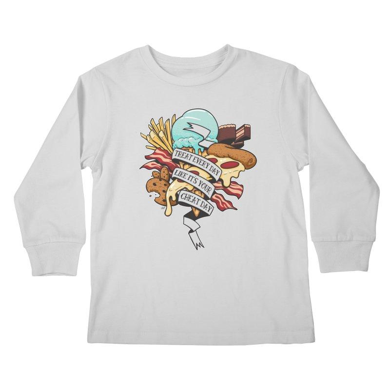 Cheat Day Kids Longsleeve T-Shirt by jrieman's Artist Shop
